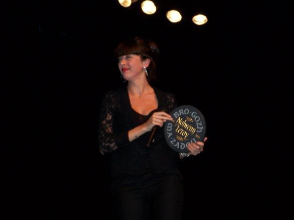 Nolwenn Leroy lors de la remise du Prix Bro Gozh 2012.